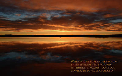 Photograph - Surrender Of Night by Whispering Peaks Photography