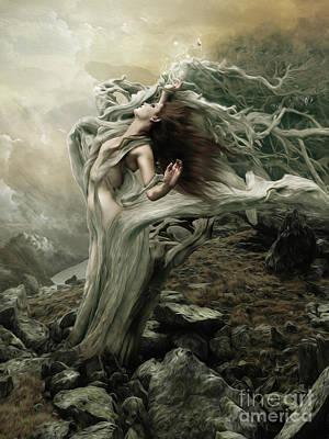 Digital Art - Surrender To The Destination Of The Wind by Babette Van den Berg