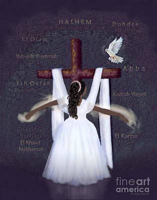 Prophetic Art Digital Art - Surrender To Jesus by Constance Woods