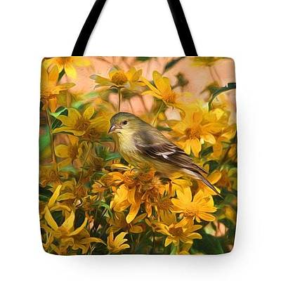 Photograph - Surrounded By Gold  2 - Tote by Donna Kennedy