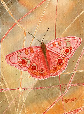 Chakra Painting - Survival Butterfly by Charlotte Garrett