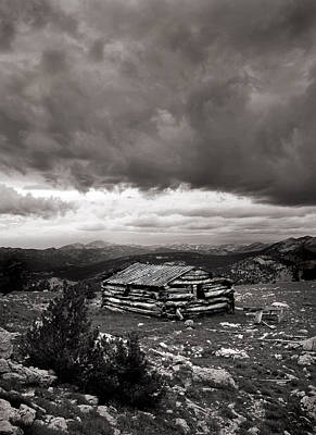 Old Cabins Photograph - Survival by Leland D Howard