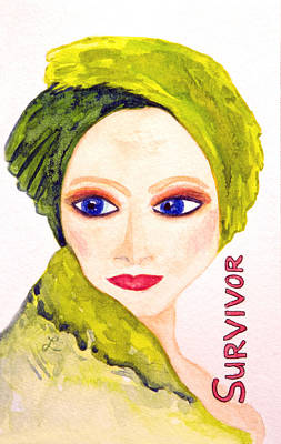 Woman Painting - Survivor by Lynne Furrer