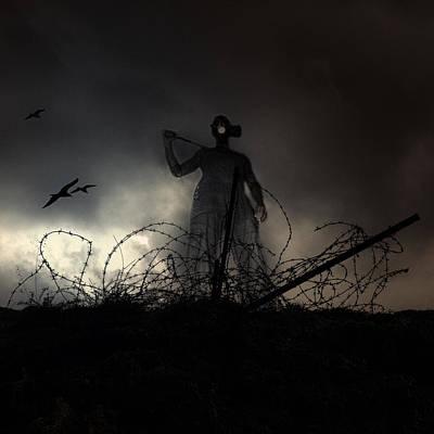 Terrorism Photograph - Survivorman by Stelios Kleanthous
