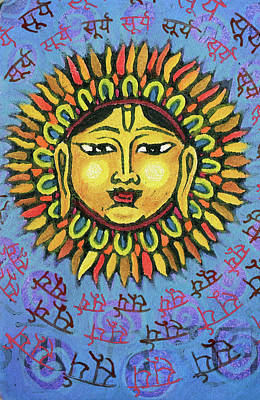 Mixed Media - Surya by Jennifer Mazzucco