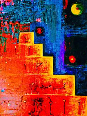 Sun Salutations Painting - Surya Namaskar by Nazdira Litvinov