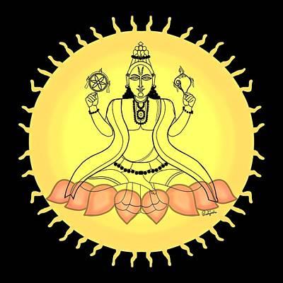 Painting - Suryanarayana by Pratyasha Nithin