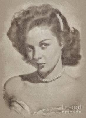 Musicians Drawings Rights Managed Images - Susan Hayward, Actress Royalty-Free Image by Esoterica Art Agency