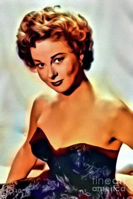 Singer Digital Art - Susan Hayward, Vintage Hollywood Actress. Digital Art By Mb by Mary Bassett