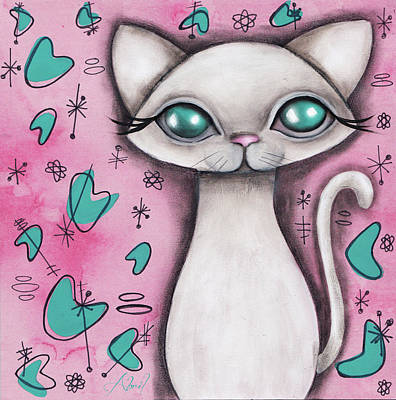 Painting - Susan  Cat by Abril Andrade Griffith