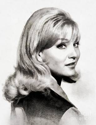 Oliver Painting - Susan Oliver, Vintage Actress by John Springfield