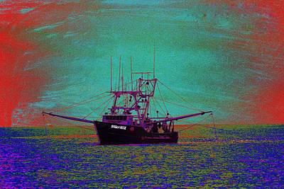 Trawler Digital Art - Susan Rose by Richard Henne