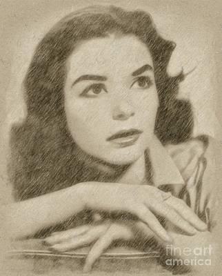 Fantasy Drawings - Susan Strasberg, Actress by Frank Falcon