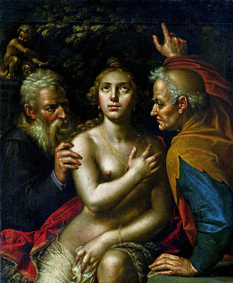 Painting - Susanna And The Elders by Hendrik Goltzius