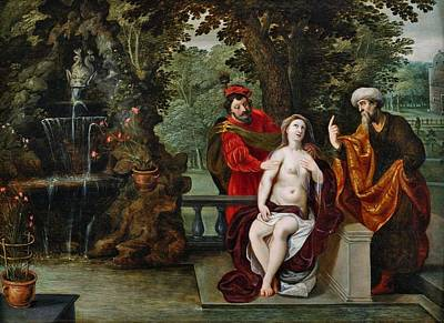 Painting - Susanna And The Elders by Jan Brueghel the Younger