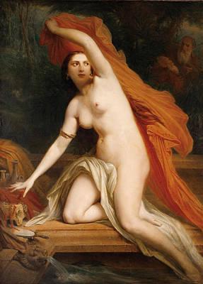 Tassaert Painting - Susanna And The Elders by Octave Tassaert