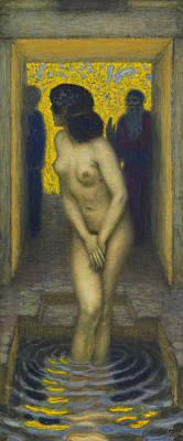 Painting - Susanna In The Bath by Franz von Stuck