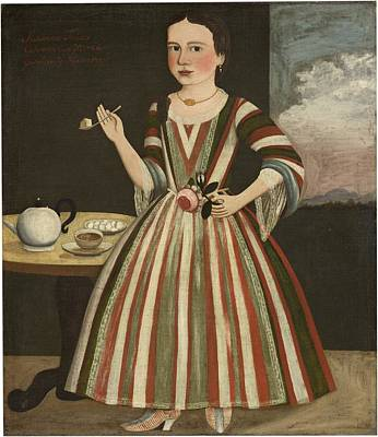 Teapot Painting - Susanna Truax by The Gansevoort Limner - possibly Pieter Vanderlyn