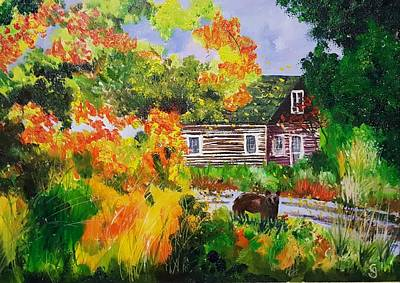 Painting - Susans Cabin         60 by Cheryl Nancy Ann Gordon