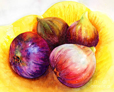 Art Print featuring the painting Susan's Figs by Bonnie Rinier