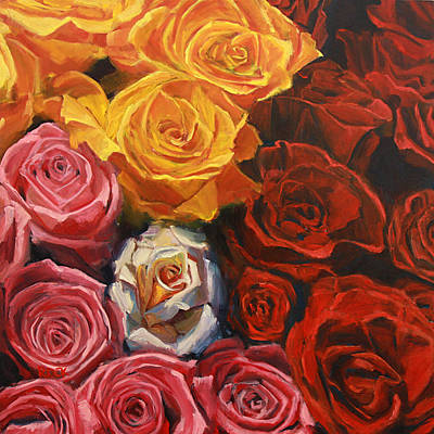 Painting - Susan's Rose by Leslie Rock