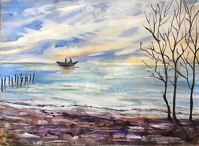 Painting - Suset 2 by Katerina Kovatcheva