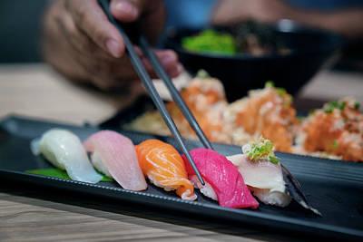 Photograph - Sushi by Anek Suwannaphoom
