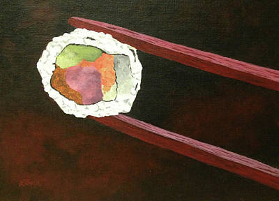 Painting - Sushi Anyone? by Lisa Barr