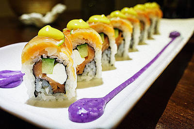 Sushi On Plate Print by Iguanna Espinosa