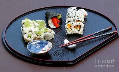 Photograph - Sushi Plate by Henrik Lehnerer