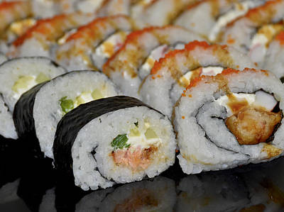 Photograph - Sushi Rolls From Home by Carolyn Marshall