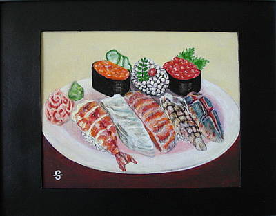 Painting - Sushi by Silvia Gold