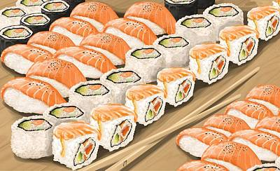 Painting - Sushi by Veronica Minozzi