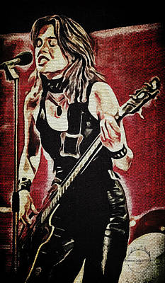 Digital Art - Suzi Quatro by Absinthe Art By Michelle LeAnn Scott