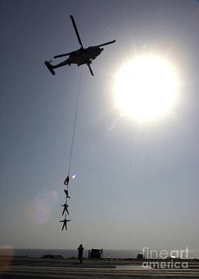 Suspended Personnel Insertion Art Print