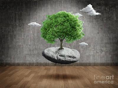 Unreal Mixed Media - Suspended Tree by Giordano Aita