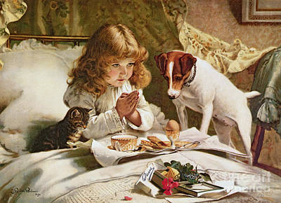 Terrier Painting - Suspense by Charles Burton