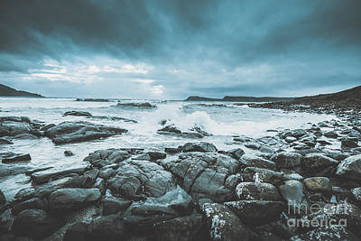 Sombre Photograph - Suspenseful Seas by Jorgo Photography - Wall Art Gallery