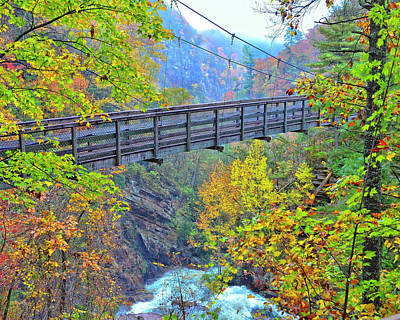 Photograph - Suspension Bridge At Tallulah Gorge by Susan Leggett