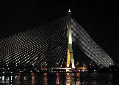 Photograph - Suspension Bridge Bangkok by Diane Height