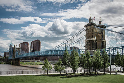 Photograph - Suspension Bridge Color by Scott Meyer