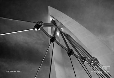 Keeper Of The Plains Photograph - Suspension by Fred Lassmann