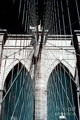 Photograph - Suspension Portrait Of The Brooklyn Bridge by John Rizzuto