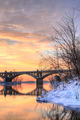 Susquehanna Sunrise Art Print by JC Findley