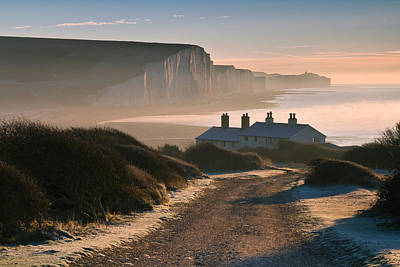 Photograph - Sussex Coast Guard Cottages by Will Gudgeon
