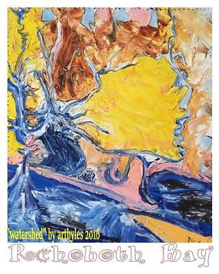 Painting - Sussex Waterways  by Leslie Byrne