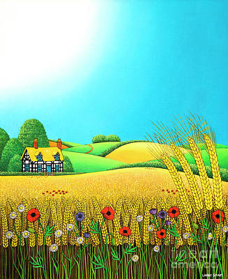 Painting - Sussex Wheatfields by Larry Smart