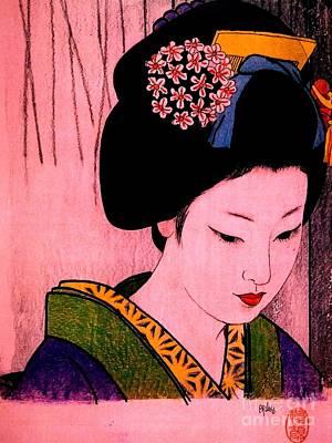 Painting - Sutekina Geisha by Roberto Prusso