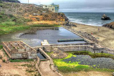 Outdoors Photograph - Sutro Baths And Cliff House by SC Heffner