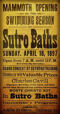 Digital Art - Sutro Baths Open - San Francisco 1897 by Daniel Hagerman